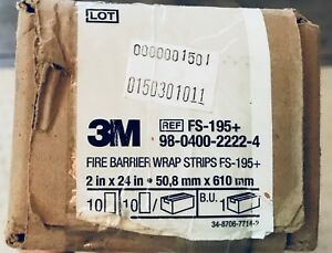3m Fire Barrier Wrap Strips 2 x24 Fs 195 10 New