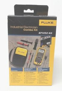 Fluke 87v E2 Industrial Electrician Combo Kit 87ve2 new In Box Msrp 425