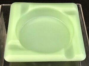 Old Vintage Fire King Lime Green Jadeite Restaurant Style Ashtray Mcm Ash Tray