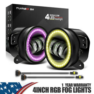 4 Led Fog Lights Offroad Lamps Projector Car Halo Ring With One Year Warranty