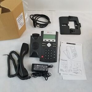 Lot Of 3 Polycom Soundpoint Ip 331 Office Phone Poe Power Supply 2200 12365 001