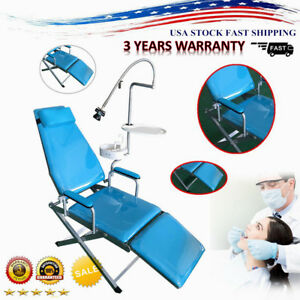 Dental Portable Folding Chair delivery Unit Rolling Case W Weak Suction 4 Hole
