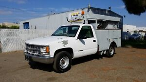 1999 Chevrolet 3500 Utility Truck 243k With Generator Runs Drives Great L k