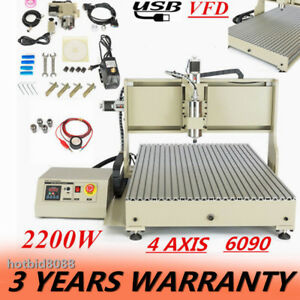 Usb Port Cnc Router 6090 4 Axis 2 2kw Engraver Machine Engraving Milling 2200w