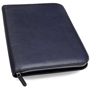 Leather Padfolio Executive Writing Portfolio Document Holder Business Case