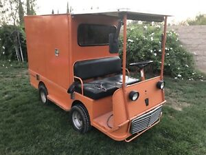 Taylor Dunn B2 48 Industrial Flatbed Electric Utility Cart With Enclosed Box
