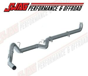 01 07 Gm 6 6 6 6l Duramax Diesel Mbrp 4 Stainless Exhaust Kit W Polished Tip