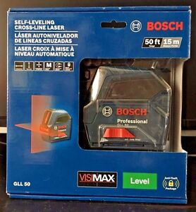 Bosch 50 Ft Self leveling Cross line Laser Level Gll 50 Brand New Free Shipping