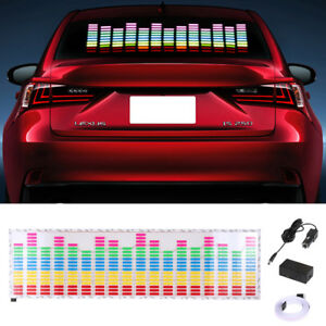 Sound Music Active Car Sticker Equalizer Multi Color Led Light Voice Rhythm Lamp
