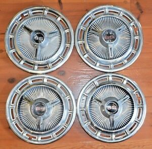 1965 1966 Chevy Impala 14 Super Sport Spinner Hub Cap Wheel Cover Used Set Of 4