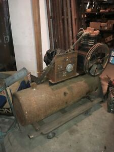 Large Vintage Industrial Air Compressor