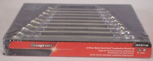 New Snap on Oexlm710b 10 Piece Metric Flank Drive Combination Wrench Set Sealed