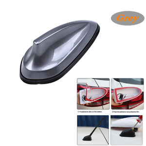 Car Grey Sharkfin Style Roof Antenna Aerial Fm Am Radio Signal Replacement Dcor