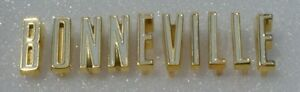 Pontiac New 61 Bonneville Tail Letters Gold 1961 Bc012