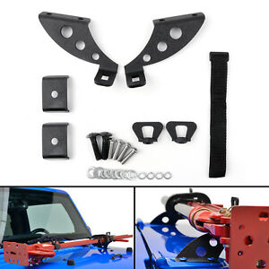Hi Lift Jack Mount Hood Rear Door Hinge Bracket For 07 18 Jeep Wrangler Jk Ue