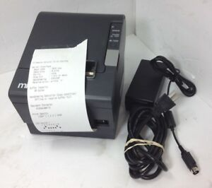 Epson M129h Tm t88iv Idn Thermal Receipt Printer W Power Supply Tested Working
