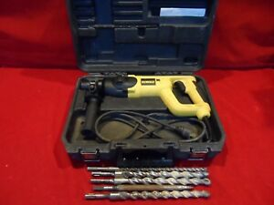 Dewalt D25023 Sds Rotary Hammer Drill With 5 Bits Case