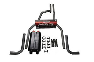 01 06 Chevy Gmc 2500 Truck 2 5 Dual Exhaust Kit Flowmaster Big Block Side Exit