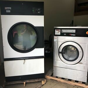 12 Ipso 55lb Washer 75lb Dryer 1ph Commercial Laundry Speed Queen Huebsch
