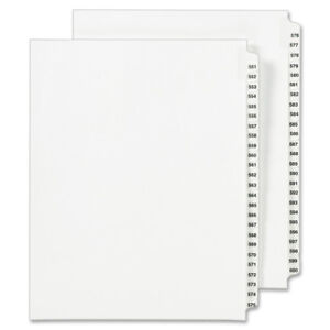 Avery Side Tab Legal Exhibit Index Dividers 1351