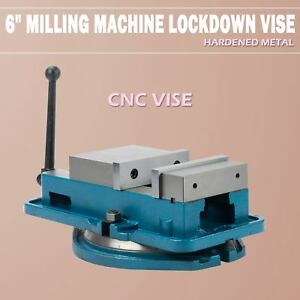 6 Worktable Precision Hardened Milling Machine Vise Lock Bench Clamp Clamping