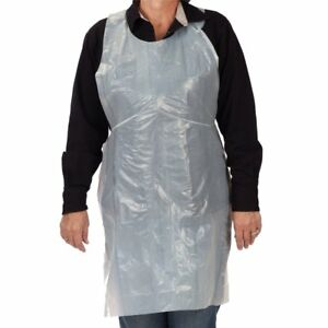 100 Or 1000 The Safety Zone White Polyethylene Disposable Aprons 28 X 46b