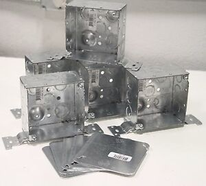 Lot Of 5 Steel City 4 sdw fb Outlet Electric Electrical Handy Box Covers
