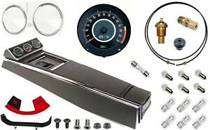 67 Camaro Tach Console W gauges Conversion Kit W 4 Spd 120 Mph 6 7k Tach