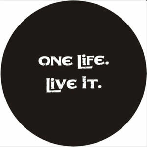 17 Car Rear Wheel Spare Tire Cover For One Life Live It Logo Soft Vinyl 31 33
