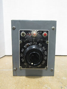 Used Genuine Variac Auto Transformer General Radio Company Tested