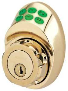 Lock And Deadbolt brass 6 Button Master Lock Dskp0603p