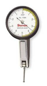 Starrett 708az Dial Test Indicator hori 0 To 0 010 In
