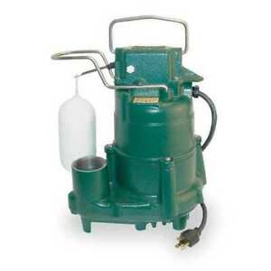 Zoeller M98 1 2 Hp 1 1 2 F Submersible Sump Pump 115v Vertical
