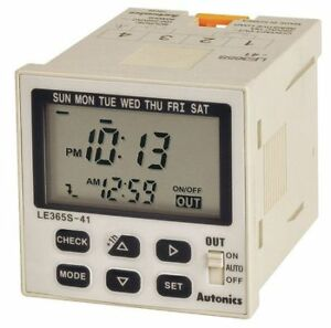 Lcd Digital Timer weekly yearly Timer Autonics Le365s 41