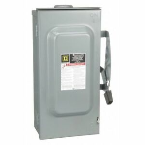 100 Amp 240vac Single Throw Safety Switch 3p Square D D323nrb