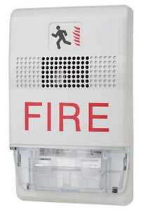 Ceiling Strobe marked Fire white Edwards Signaling Egcf vmh