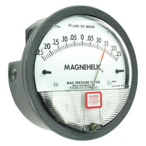 Dwyer Magnehelic Pressure Gauge 0 25in To 0 To 0 25in H2o