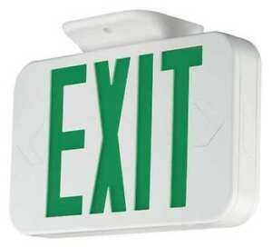 Hubbell Lighting Compass Exit Sign Battery Backup
