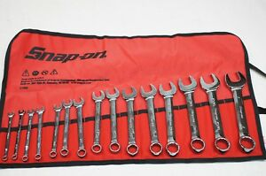 New Snap on Oexs715k 15 piece 12 point Short Sae Combination Wrench Set