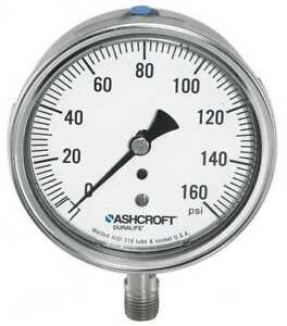Ashcroft 351009swl02l1500 Gauge pressure 0 To 1500 Psi 3 1 2 In