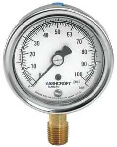 Gauge pressure 0 To 100 Psi 2 1 2 In Ashcroft 251009aw02l100