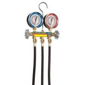 Yellow Jacket 42044 Mechanical Manifold Gauge Set 2 valve