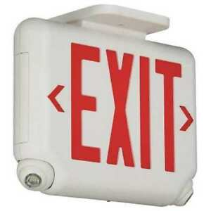 Hubbell Lighting Dual lite Evcurw Hubbell Lighting Duallite Led Exit Sign