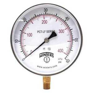 Gauge pressure 0 To 60 Psi 4 1 2 In Winters Pct322lf