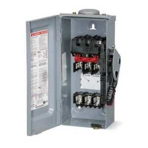 30 Amp 600vac Single Throw Safety Switch 3p Square D Hu361rbei