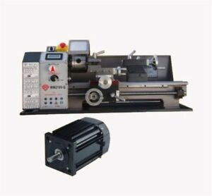 Brushless Motor Lathe Machine Metal Lathe Stepless Variable Speed New Wm210v Ro