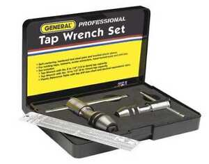 General 165 Tap Wrench Set 0 To 1 2 In 3 Pc