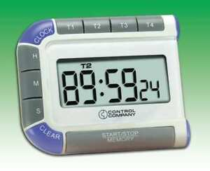 Digital Timer 3 4 In Lcd 4 Channels Traceable 7074