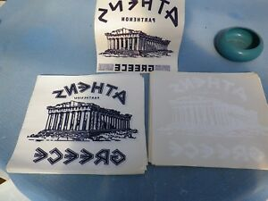 Greece Parthenon Heat Press Transfer Papers For T Shirts Sweatshirts