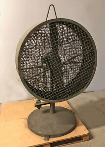 Pedestal Fan Industrial High Velocity 230 460v 1 Hp 3 Phase 38 Used